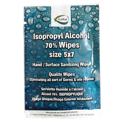 Disinfecting Hand Wipes, 70% Alcohol (100/Bag) - Made in Israel