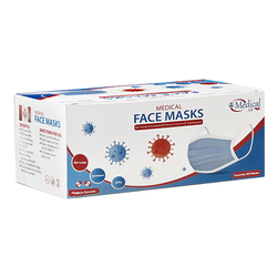 Canadian Made ASTM Level 3 Mask 3 Ply 50/Box