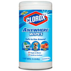 Clorox Anywhere Wet 75 Wipes, Kids, Pet, Food Safe, Bleach-Free And Fragrance-Free