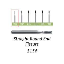 Carbide Burs. FG-1156 Straight Round End Fissure. 10 pcs.