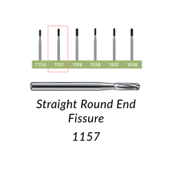 Carbide Burs. FG-1157 Straight Round End Fissure. 10 pcs.