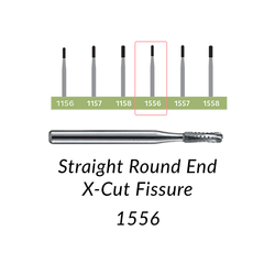 Carbide Burs. FG-1556 Straight Round End Fissure. 10 pcs.