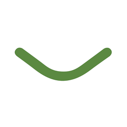 Slick Bands Right-Curve - Dead Soft - Green, 100/pk