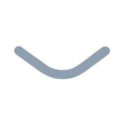 Slick Bands Right-Curve - Regular - Gray, 100/pk