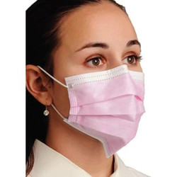 Premium Medical Grade ASTM 3 PInk Ear Loop Masks 50/PK By Unipack/Dukal