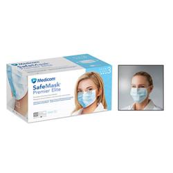 Medicom Safe Masks Premier Elite ASTM Level 3 Blue 50/Box