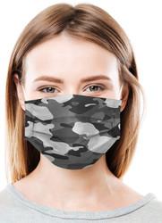 Daily Protective Camo Black Ear Loop Masks 50/Box
