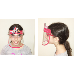 Fog-Free Kids Full-Face Face Shield With Fun Cartoon Decoration