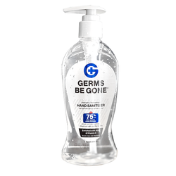 Germs Be Gone 8oz 75% Alcohol Sanitizer With Pump