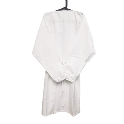 Washable Isolation Gown Drop Shoulder White