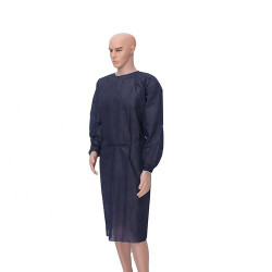 Hospital Grade Navy Blue Disposable Gowns - 10/Pk