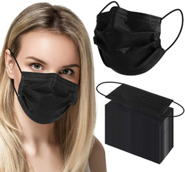 Canadian Made BLACK ASTM Level 3 Mask 3 Ply 50/Box