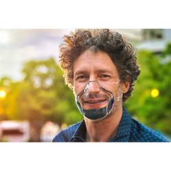 World's First Transparent Face Mask/Shield 1/Pk