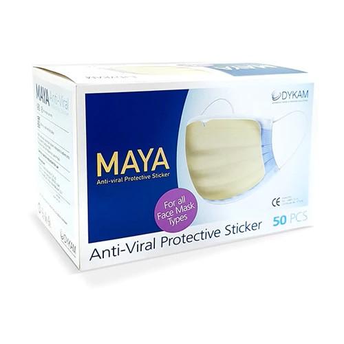 Maya Anti-Viral Protective Sticker 50/Box + 50/Pk Of High Filtration Masks