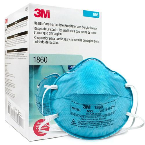 Genuine N95 #1860 3M Healthcare Surgical Respirator **** 20/Box ****