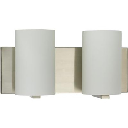 13-3/8 Inches Wall Sconce; Brushed Nickel Finish