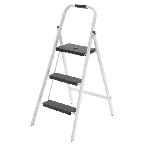 3-Step Steel Skinny Mini Step Stool