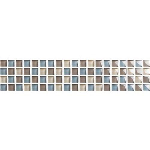 Beton Glass Listello 3 Inch X 12 Inch Wall Listello Tile
