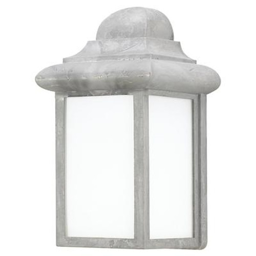 1 Light Pewter Fluorescent Outdoor Wall Lantern
