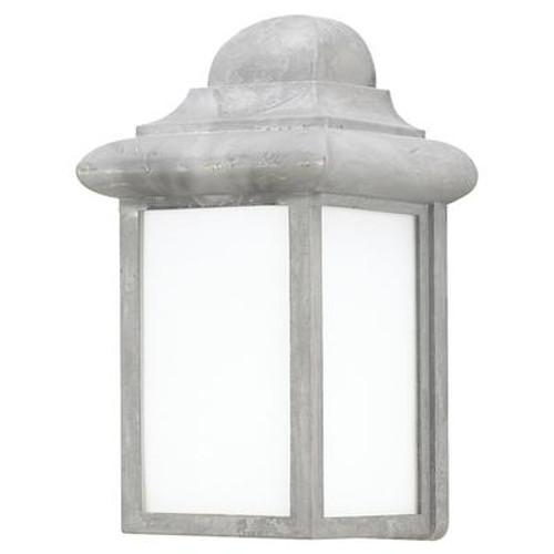 1 Light Pewter Fluorescent Outdoor Wall Lantern
