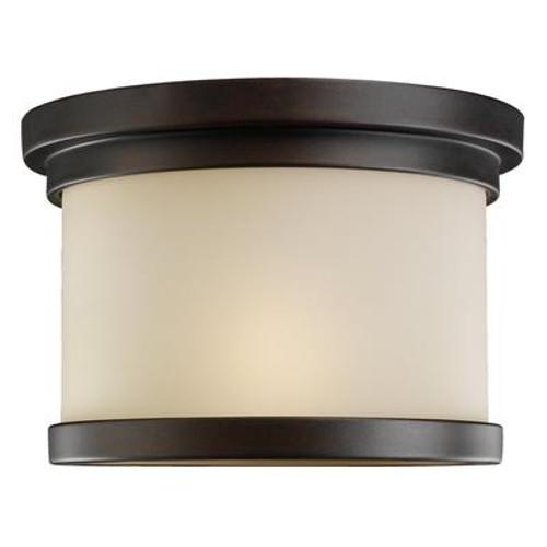 1 Light Misted Bronze Incandescent Ceiling Fixture