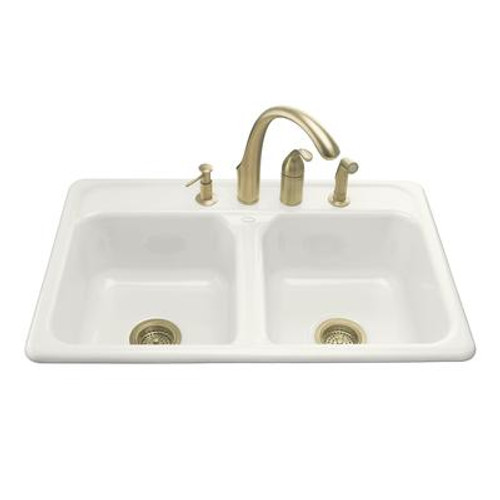 Delafield Self-Rimming Kitchen Sink in White