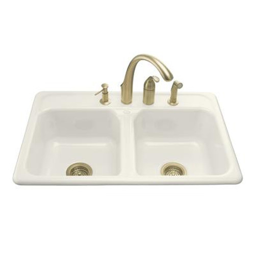 Delafield Self-Rimming Kitchen Sink in Biscuit