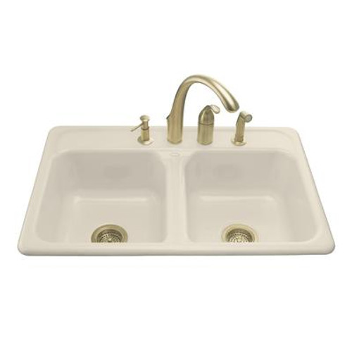 Delafield Self-Rimming Kitchen Sink in Almond