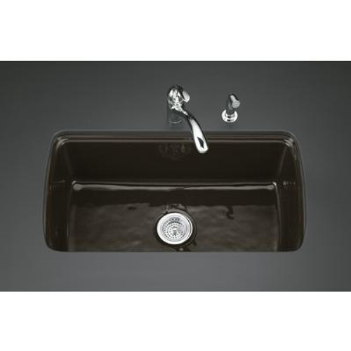 Cape Dory Undercounter Kitchen Sink in Black  Footn Tan