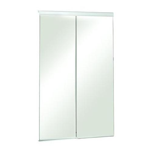60 Inch Frameless Mirrored Sliding Door