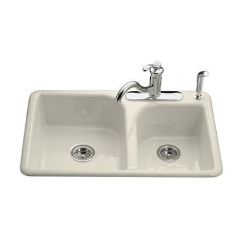 Efficiency(Tm) Self-Rimming Kitchen Sink in Almond