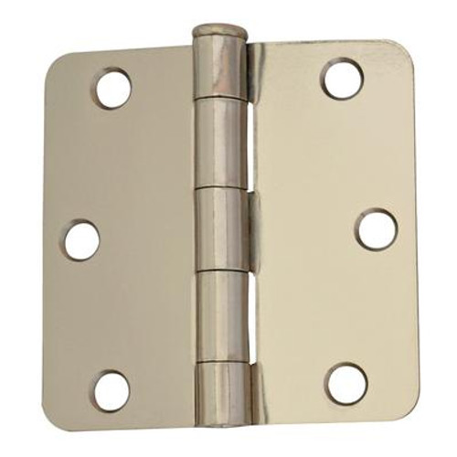 3 Inch  Bright Nickel 1/4rd Door Hinge 2pk