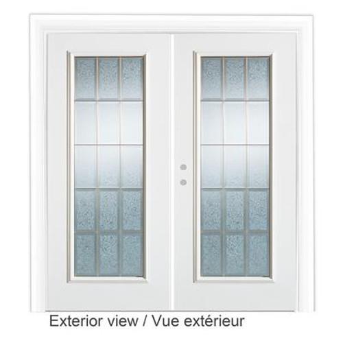 6 Feet Decorative Glass Garden Door - Right Hand