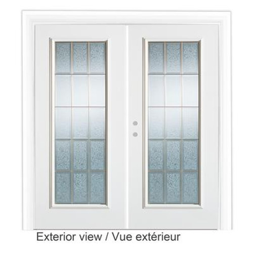 5 Feet Decorative Glass Garden Door - Right Hand