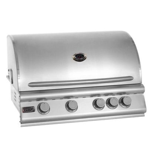 Broilchef Premium 4-Burner Convection Built-In Natural Gas BBQ Grill! With an Infrared Back Burner