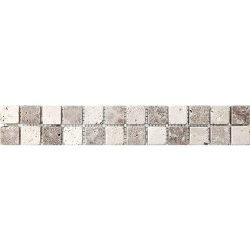 235540 2x12 Chiaro Noce Checkerboard Listello