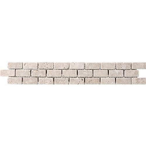 235539 2x12 Noce Travertine Brick Listello
