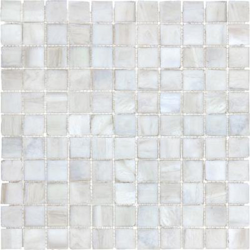 1 Inchx1 Inch Perfect Pearl Glass Mosaics