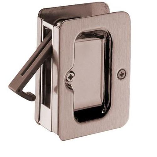 1031 Square Privacy Pocket Door Lock in Antique Nickel
