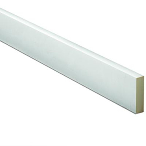 1 Inch x 7-1/2 Inch x 96 Inch Primed Polyurethane Window or Door Flat Trim