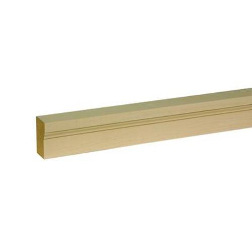 1-1/4 Inch x 2 Inch x 96 Inch Unfinished Wood Grain Texture Polyurethane Brickmould