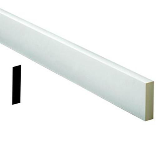 1 Inch x 7-1/2 Inch x 72 Inch Primed Polyurethane Flat Trim Moulding