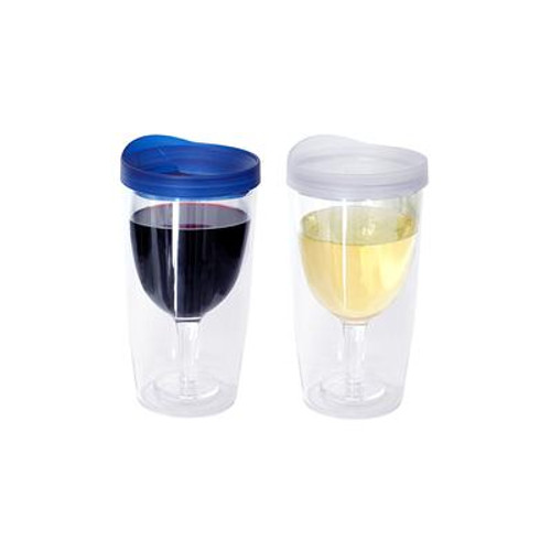 Wine Tumbler Blue/Clear 2 Pack