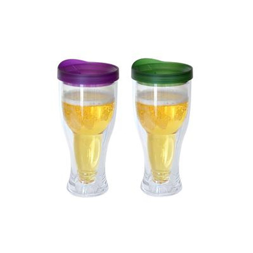 Beer Mug Purple/Green 2 Pack