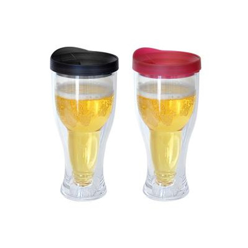 Beer Mug Black/Red 2 Pack