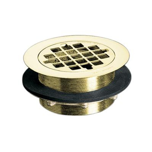 Shower Drain in Vibrant Polished Brass