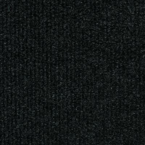 Black Ribbed 18 Inch x 18 Inch Carpet Tiles 16 Tiles/Case - (36 Sq.Feet./Case)