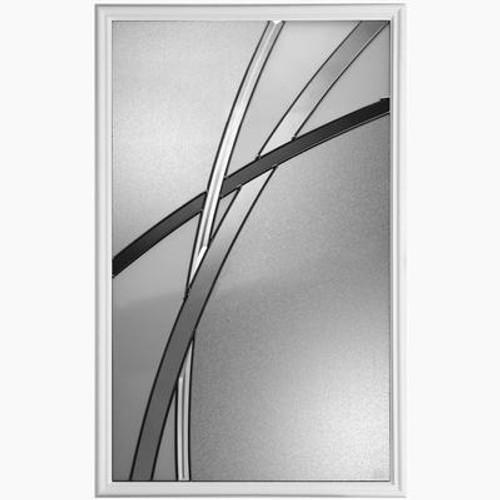 22 In. x 36 In. Kordella Ant Black Glass Insert