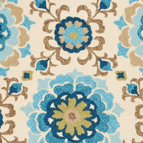 Aceval Parchment Polypropylene Indoor/Outdoor  - 5 Ft. x 7 Ft. 6 In. Area Rug