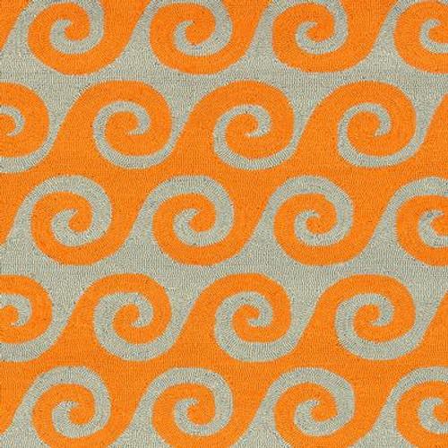 Abenaston Pumpkin Polypropylene Indoor/Outdoor  - 8 Ft. x 10 Ft. Area Rug